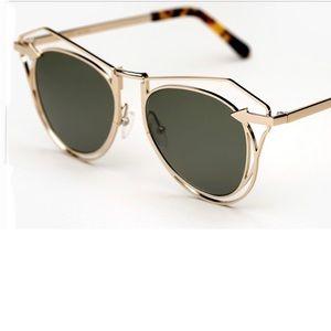 Karen Walker Sunglasses; Marguerite Gold